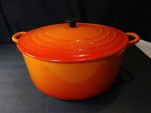 Giant Le Creuset Flame Orange Dutch Oven #30 Enamel Cast Iron 9 Quart