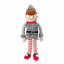 House of Paws Christmas Elf Non-Squeaky Dog Toy   Silent Plush Festive Xmas Grey