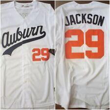 Rare Bo Jackson Auburn Tigers White Replica Throwback Baseball Jersey Mens XXL