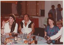 Vintage 80s PHOTO People w/ Drinks Chips At Restaurant