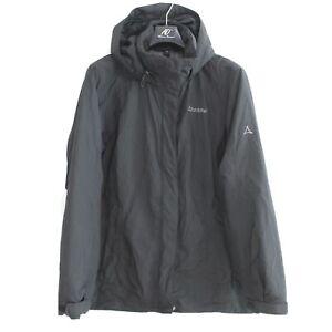 SCHOFFEL Women's Jacket Size XL Hooded Waterproof Windproof Hooded Black