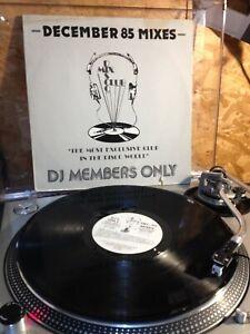 "DMC 35 DECEMBER  85 MIXES DISCO MIX CLUB -DJ MEMBERS ONLY PROMO 12"""