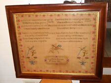 "Mary Jane Rainey June 9th 185? Sampler LARGE 32"" x 27"" AWESOME Frame & Condition"