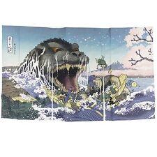 JAPANESE Noren Curtain UKIYOE Godzilla  CHREE MADE IN JAPAN