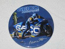 """Geico Motorcycle Insurance Advertising Button Pin Pinback Badge Karen Stoffer 3"""""""