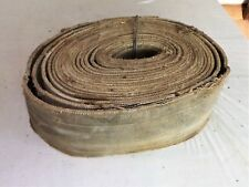 """Vintage Woven Industrial Agricultrial Flat Belt, Thrasher, Steam 5.5"""" W X 25' L"""