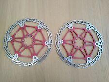 HOPE SAW floating brake disc rotor pair , Red , 203mm.