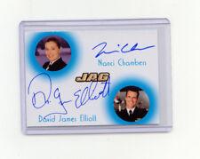 JAG 2006 #JC1 Dual Autograph Nanci Chambers  David James Elliott  85/100 SP