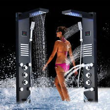 49'' Shower Panel Tower System LED Massage Jet Temperature Display Shower Faucet