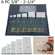 6Pc 3/8'' - 2-1/4'' Adjustable Parallels Set Precision Steel Measurement Tool