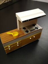 Tomy Vintage Smaller Home & Garden Dollhouse Furniture Stove cabinet and cup