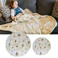 Super Soft Burrito Blanket Throw Tortilla Texture Soft Fleece Throw Blanket USA