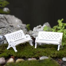 2 Pcs Mini Garden Decoration Chairs Fairy Garden Miniatures Terrarium Figurine