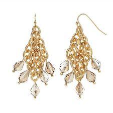NEW! Simply VERA WANG Gold Tone Bead Tipped Kite Earrings FREE SHIPPING!