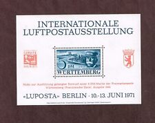 Germany 1971 Luposta Berlin 10 - 13. JunI 1971 Wurttenberg Exhibition label SS