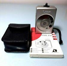 Cámara de película de Canon Ixus Z50 Compacto Con Funda Y Manual