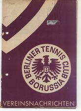 Tennis Borussia Berlin - Vereinsnachrichten - Juli / August 1960