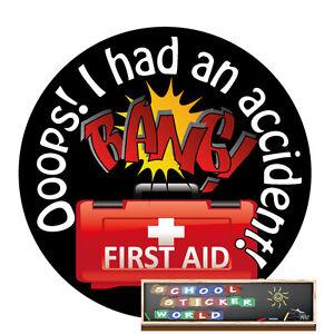 Teacher Reward Sticker 48 Accident First Aid Nursery Childminder EYFS School