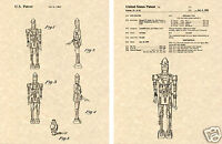 Star Wars BOUNTY HUNTER DROID IG-88 PATENT Print READY TO FRAME!!!!! Lucas Art