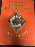 1925 La Revue Des Folies Bergere Un Soir De Folie Book Magazine