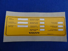 VOLVO CLASSIC VEHICLE TYPE 240 242GT 260 DECAL STICKER