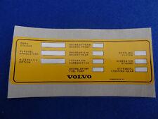 Volvo clásico tipo de vehículo 240 242gt 260 Decal Sticker