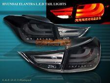 2011 2012 2013 ELANTRA TAIL LIGHTS SMOKE W/ LED 4 PCS (OUTER PART W/ BULB)