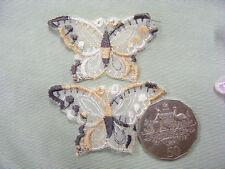 Butterfly Brown Organza Motifs Pkt 10 (P6)