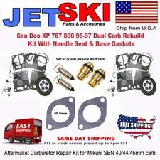 Sea Doo XP 787 800 95-97 Dual Carb Rebuild Kit With Needle Seat & Base Gaskets