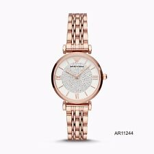 New Emporio Armani AR11244 Rose Gold Dial Stainless Steel Women's Watch