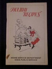 1980 Holiday Recipes Cookbook, Home Service Department Iowa Public Service 68732
