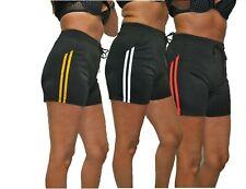 Damen Short  Fitness Short Sport Bade Short Allround Pant mit Streifen