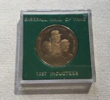 Vintage Baseball Hall of Fame Collectible Coin - 1987 Inductees Catfish Hunter..