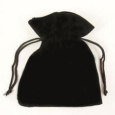 10 Black Velvet Jewellery Drawstring Gift Pouches 5cm x 7cm