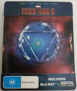 Iron Man 3 Blu-ray Steelbook Rare OOP
