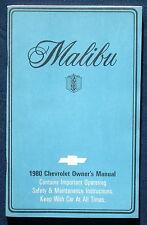 Owner's Manual * Betriebsanleitung 1980 Chevrolet Chevy Malibu (USA)