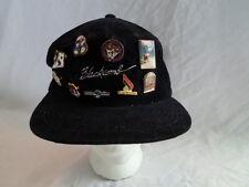 Vintage Whistler Blackcomb Corduroy Baseball Cap Hat Snapback + 9 Pin Pinback