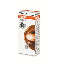 10x Genuine Osram Original 12v W5W (501 / W2.1x9.5d) 5w Clear Bulbs [2825]