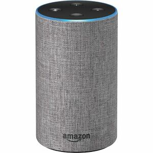 Amazon Echo 2nd Generation 2017 Smart Assistant Speaker with Alexa Heather Gray