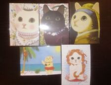 Korean Jetoy Choo Choo Cat Postcard/Invitation/Party Favor/PenPal 5pcs Set 2