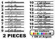2x Stickers autocollant réservoir moto café racer / bobbers / 17 modèles