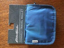 Eddie Bauer Connect Lightweight Travel Wallet Shoulder Small Case Blue Clutch