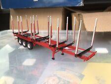 Corgi Modern Truck Heavy Haulage Tri Axle Log Trailer Plain Red Only 1/50