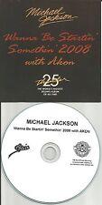 MICHAEL JACKSON w/ AKON Wanna Be Startin Somethin TST PRESS PROMO DJ CD single