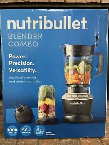New NutriBullet Blender Combo 56 OZ Pitcher & Single Serve To-Go Cup Smoothies