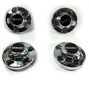 1988-1998 GMC Pickup Truck Chrome Center Cap 5 Lug wheel hub cover Set of 4 OEM