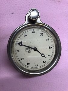 Smiths 8 day Vintage Car Clock - White Dial - Classic Car