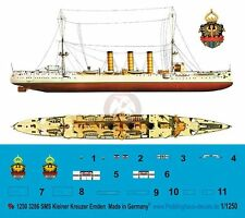 Peddinghaus 1/1250 SMS Emden German Imper. Navy Light Cruiser WWI Markings 3286