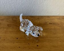 Retired Swarovski Faceted Clear Crystal Playing Beagle, 172296, Mint