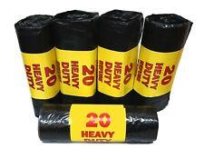 100 x Heavy Duty Black Bin Liners Rubbish Refuse Sack Rolled
